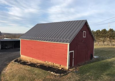 Dark Bronze Standing Seam – Historic Shed – Carroll County, Maryland.